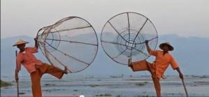 Dancing fishermen of myanmar